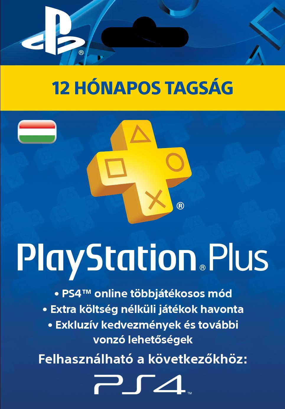 PlayStation Plus kártya 12 hónapos (PSN Plus) (PS+)