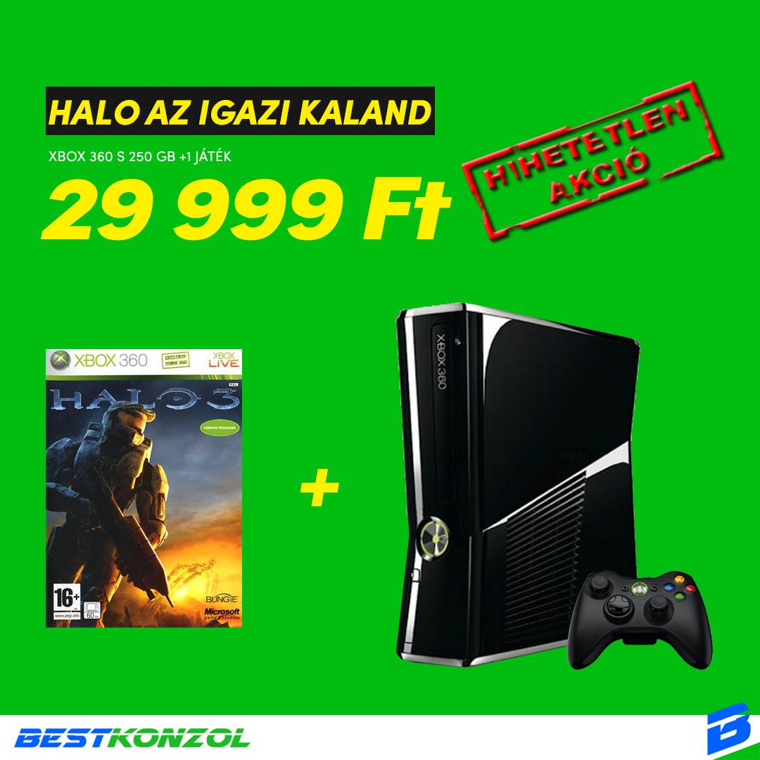 Xbox 360 S + Halo 3