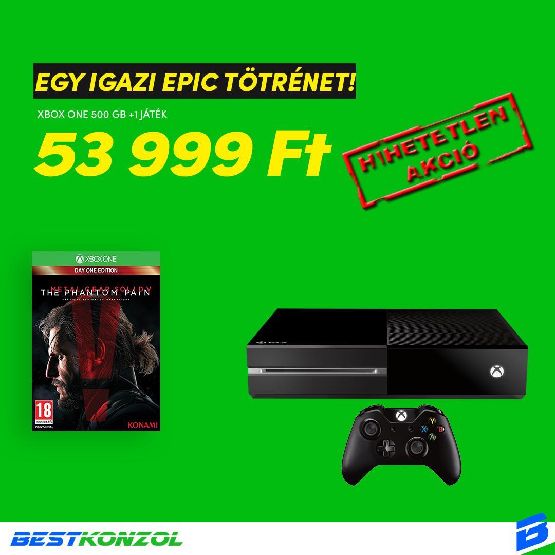 Xbox one 500GB + Metal Gear Solid 5