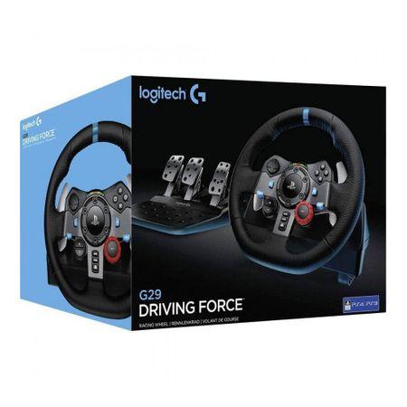 Logitech G29 Driving Force Racing Wheel (941-000113) + Logitech G29 Driving Force Shifter