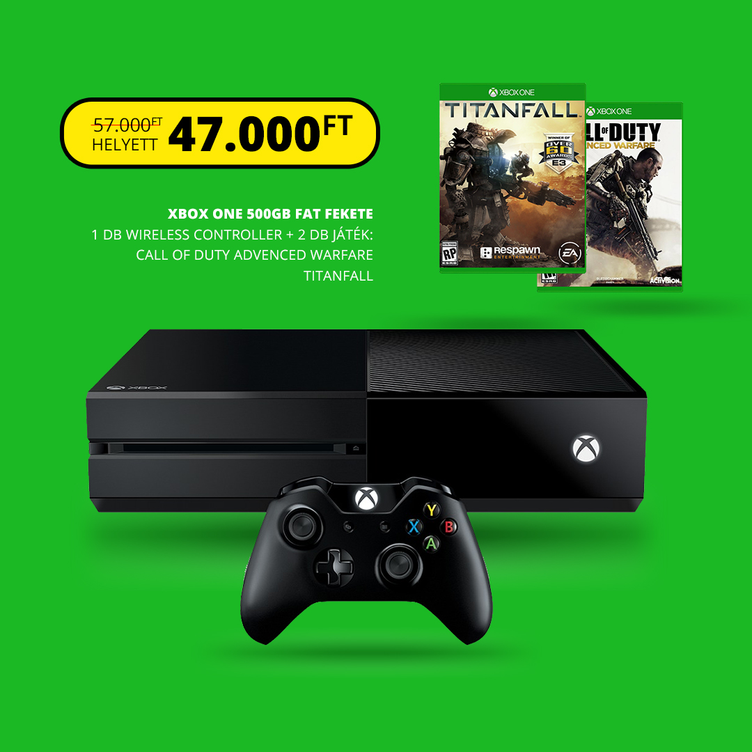 XBOX ONE 500gb + Titanfall + Call of Duty Advanced Warfare