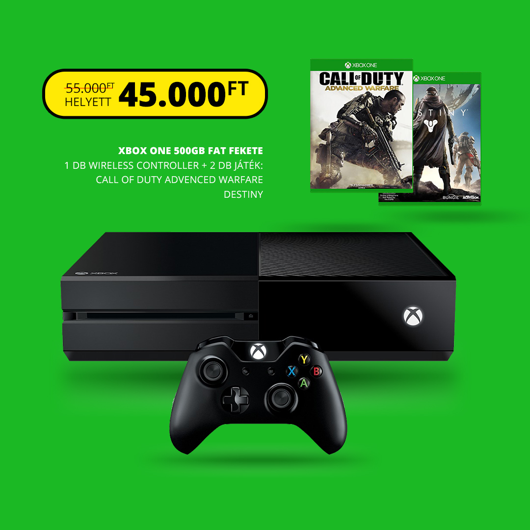 XBOX ONE 500gb + Call of Duty Advanced Warfare + Destiny