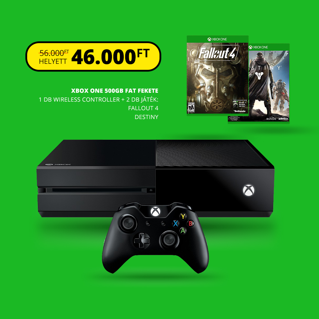 XBOX ONE 500gb + Fallout 4 + Destiny