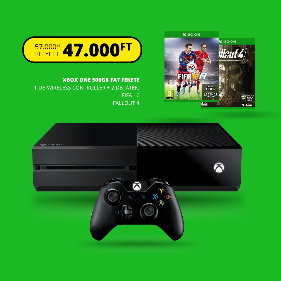 XBOX ONE 500gb + Fifa 16 + Fallout 4