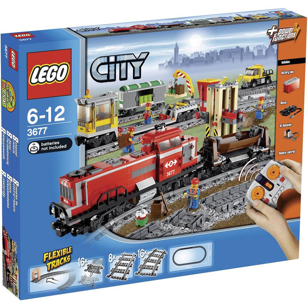 LEGO 3677 - Piros tehervonat - Red Cargo Train