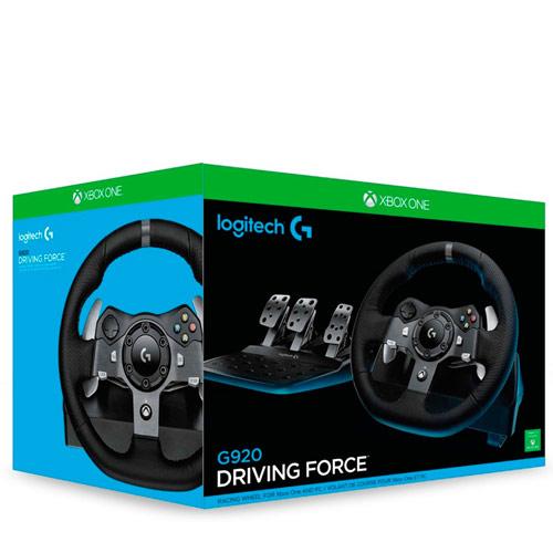 Logitech Kormány - G920 Driving Force RACING WHEEL (kormány+pedálok, PC / Xbox One kompatibilis, fekete)PC /újszerű/